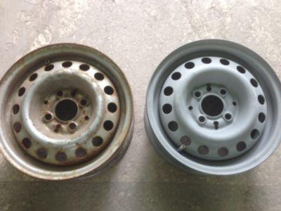 Стальной диск до и после обработки