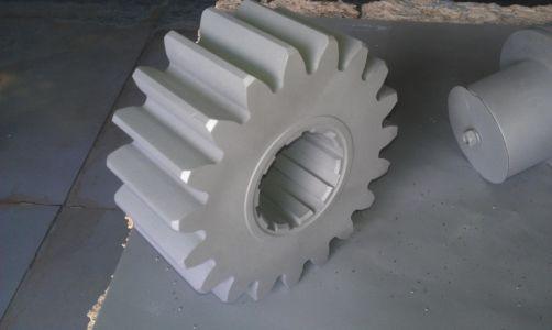 Пескоструйная обработка шестерни